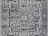 "Home Goods area Rugs 7×9 Ladole Rugs atlantis Persian Design Bordered Style European Durable Blue and Grey Indoor area Rug Carpet 7×9 6 7"" X 9 2"" 200cm X 280cm"