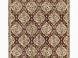 House Of Hampton area Rugs Jethro Hand Tufted Wool Cream Burgundy area Rug
