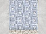 Indigo Blue Bath Rugs This Trendy Bath Mat In Indigo Blue Features A Modern
