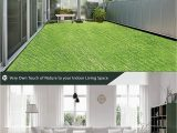 Indoor Outdoor Grass area Rug Artificial Green Grass area Rug – Perfect Color Sizing for