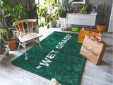 """Indoor Outdoor Grass area Rug Wet Grass"""" by Del Ten In 2020 with Images"""