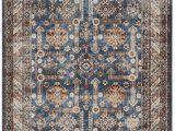 Isanotski Brown Blue area Rug isanotski Persian Inspired Brown Blue area Rug