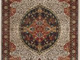 """Ivory and Red area Rugs Safavieh Kashan Collection Ksn302d Traditional Ivory and Red area Rug 5 1"""" X 7 5"""""""