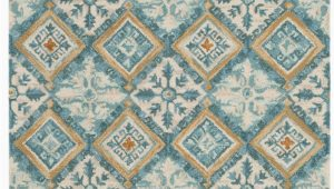 Ivory and Teal area Rugs Safavieh Blossom Blm421b Ivory Teal area Rug