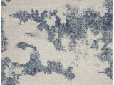 Ivory Blue area Rug Schooley Abstract Ivory Navy Blue area Rug