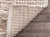 Ivory tonal Sweater Wool Emilie area Rug Pannose Felted Wool Tasseled Beige Rug