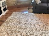 Ivory tonal Sweater Wool Emilie area Rug Rug Carpet Vegan Wool Chunky Knit area Woven Rugs Pottery