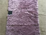 """Jean Pierre New York area Rugs Jean Pierre Faux Fur Rectangular Accent Rug Dusty Lilac 36"""" X 60"""""""