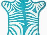 Jonathan Adler Bath Rug Turquoise Reversible Zebra Bathmat by Jonathan Adler