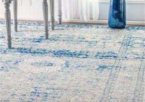 Kailee Printed Rug Porcelain Blue Nuloom byars Rug Blue