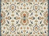 Kasuri Blue Multi Rug 111×156 Rug Magnolia Home Kasuri Ivory Multi by Joanna Gaines