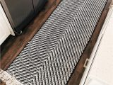 Kitchen and Bath Rugs Fashion Jackson Tar Black White Chevron Kitchen Rug