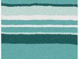 Kleine Wolke Bath Rugs Kleine Wolke Stripes Bath Mat Polyacrylic Laguna Blue 70