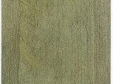 Kohls Mohawk Bath Rugs solid Color Sage Green Cotton Reversible Absorbent Bath Rug
