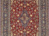 Large area Rug with Fringe isfahan Red Antique 9×12 area Rug In 2020