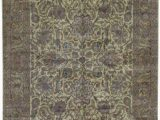 """Large area Rugs 12 X 18 E Of A Kind Crown Hand Knotted before 1900 Beige 12 X 18 2"""" Wool area Rug"""