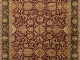Large area Rugs 12 X 18 Floral Burgundy Agra oriental Hand Knotted area Rug Wool 12×18