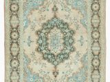 Large area Rugs Under 100 7×9 Blue Turkish Vintage Wool area Rug