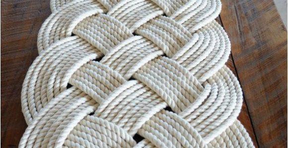 Large Bath Mats Rugs Nautical Rope Rug Bath Mat F White Cotton