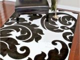 Large Black and White area Rug Details About Rugs area Rugs Carpets Black and White Modern 5×7 Floor Cool Large Floral Rugs