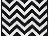 Large Black and White area Rug Garland Rug Chevron area Rug 5 by 7 Feet Black