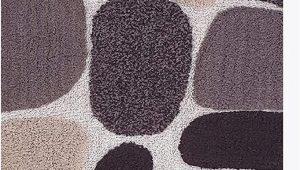 "Large Brown Bathroom Rugs Pebble Stone Bath Runner Antiskid 24""x60"" soft & Absorbent Bathroom Rugs Non Slip Bath Rug Runner for Kitchen Bathroom Floors Beige Brown"