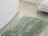 Large Chenille Bathroom Rugs Bouclé Chenille Bath Mat 50 X 80 Cm solid Kelly Green