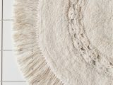 Large Circle Bathroom Rug Raine Crochet Round Bath Mat In 2020