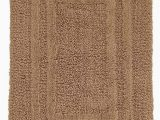 Large Cotton Bath Rug Hotel Collection Reversible Cotton Bath Mat 27×48 solid Brown Chamois Huge