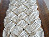 Large Cotton Bath Rug Nautical Rope Rug Bath Mat F White Cotton