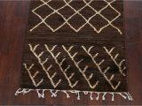 Large Dark Brown area Rugs Dark Brown Moroccan oriental area Rug 3×5