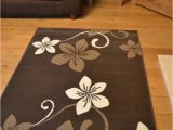Large Dark Brown area Rugs Light Dark Brown Flower Small Extra Large soft Floor area