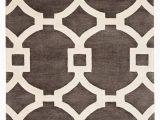 "Large Gray and White area Rug Regency Handmade Trellis Dark Gray White area Rug 9 6""x13"