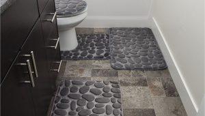 Large Gray Bathroom Rug Bathroom Rug Mat Set 4piece Memory Foam Extra soft Antislip
