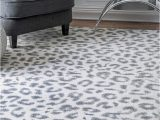 Large Grey and White area Rug Nuloom Contemporary Modern Animal Leopard Print area Rug In