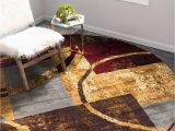 Large Half Moon area Rugs Multicolor 8 X 8 Cafe Round Rug