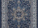 Large Navy Blue area Rug Tremont 8083 Navy Ivory by Home Dynamix Llc