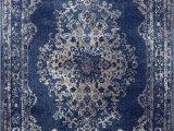 Large Round Blue Rug Dara Rugs 3931 Dark Blue oriental 5 X 7 area Rug Carpet New