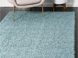 Large Thick soft area Rugs Bravich Rugmasters Duck Egg Blue Rug 5 Cm Thick Shag Pile soft Shaggy area Rugs Modern Carpet Living Room Bedroom Mats 110 X 160 Cm 3ft7 X 5ft3