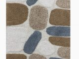 Large Washable Bathroom Rugs Cotton Pebbles Cotton Bath Runner 24×60 Bath Rug soft Absorbent Machine Washable Grey Beige Bath Rugs Runner Rugs Runner for Living