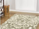 """Laura ashley 8×10 area Rugs Laura ashley Halstead Plush Knit Microfiber 22"""" X 56"""" Accent Rug Taupe"""