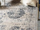 Laurel Foundry Modern Farmhouse area Rugs Abbeville Dark Blue Cream area Rug