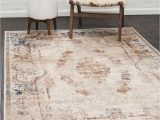 Laurel Foundry Modern Farmhouse area Rugs Abbeville oriental Cream Brown area Rug