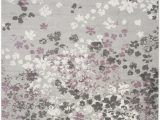 Lavender and Gray area Rugs Ales Floral Gray Lavender Purple area Rug