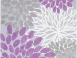 Lavender and Gray area Rugs Sanora Lavender and Gray Transitional area Rug 5 X 8