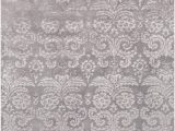 Lavender and Grey area Rug Avignon Scroll Wool Silky Sheen Lavender Grey area Rug