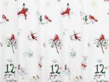 "Lenox Christmas Bath Rug Lenox American by Design 12 Days Of Christmas Shower Curtain 72"" X 72"""