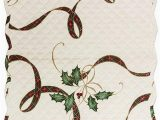 """Lenox Christmas Bath Rug Lenox Quilted Reversible Christmas Holiday Nouveau Table Runner 14"""" X 36"""" Polyester"""