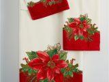 Lenox Holiday Bath Rug Closeout Lenox Holiday Poinsettia Tartan Bath towel