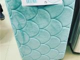 Light Aqua Bath Rugs Mermaid Memory Foam Bath Mat From Primark Uk